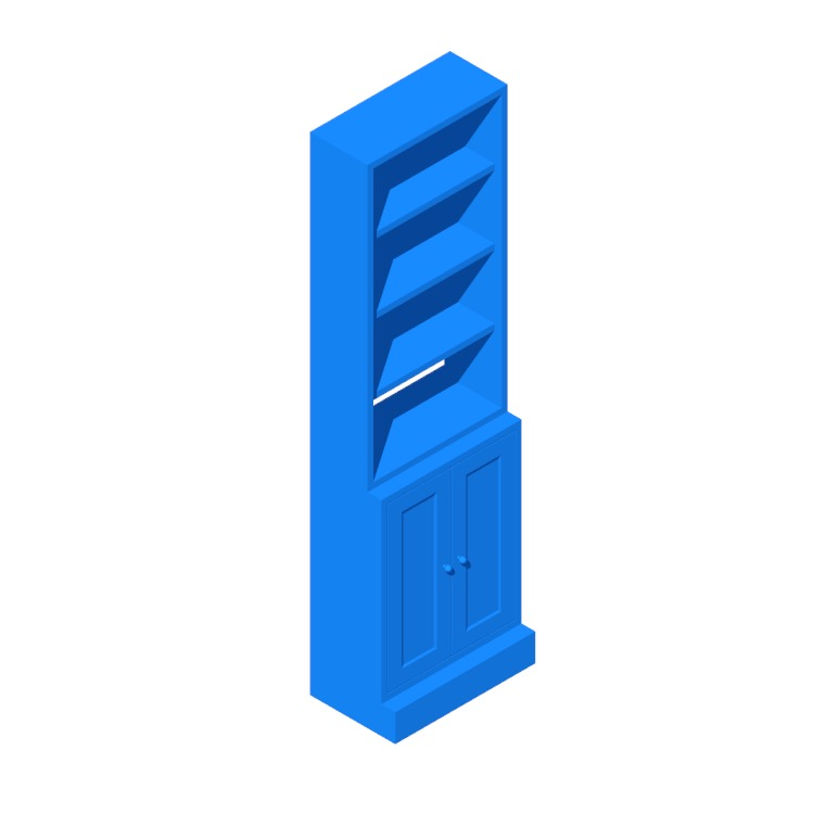 View of the IKEA Havsta Storage Combination Wide Bookcase in 3D available for download