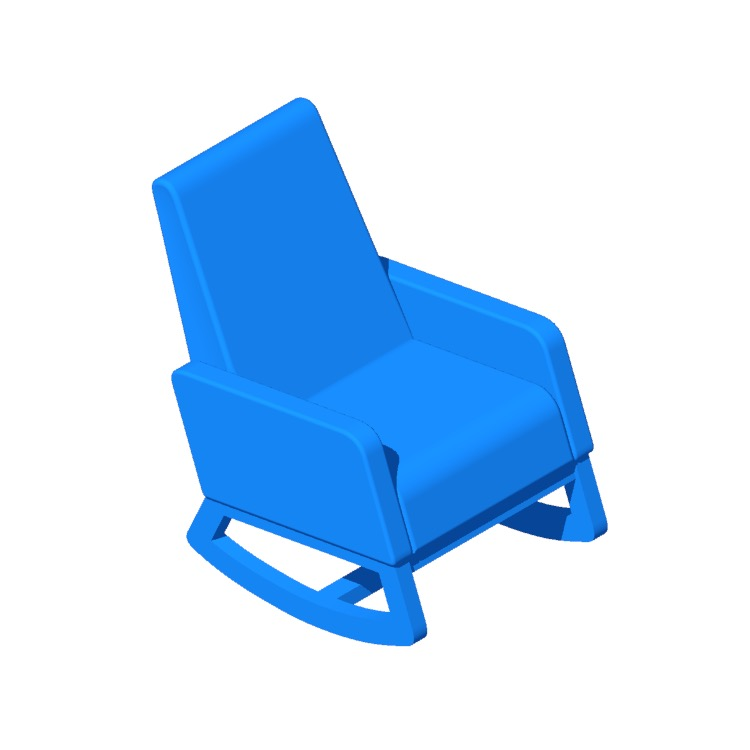 View of the Nola Rocking Chair in 3D available for download