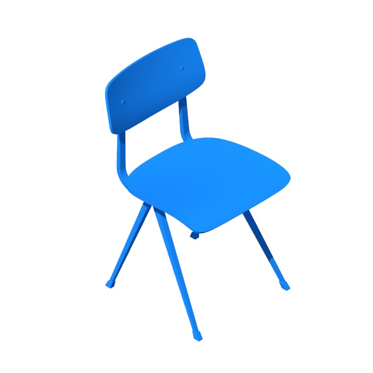 3D model of the Result Chair viewed in perspective
