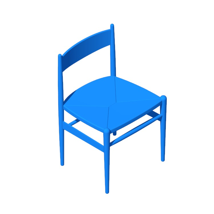 Perspective view of a 3D model of the CH36 Chair