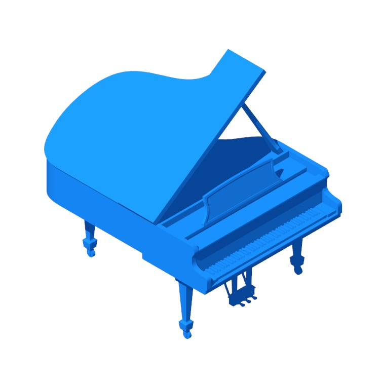 View of the Steinway Grand Piano Model A in 3D available for download