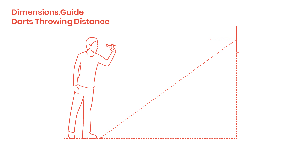 Darts Throwing Distance Dimensions Drawings Dimensions Com