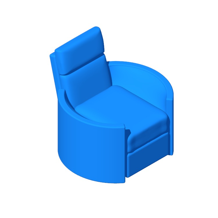 3D model of the Shelby Power Swivel Recliner viewed in perspective