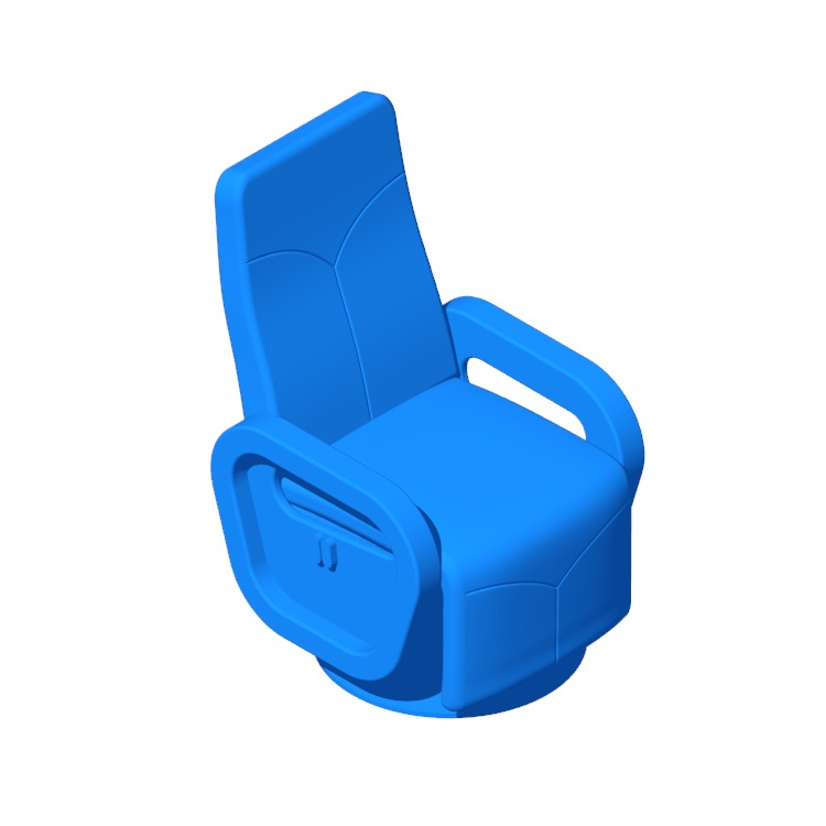 View of the Ayia Manual Swivel Recliner in 3D available for download