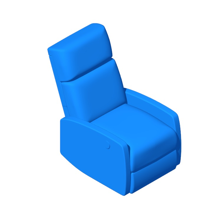 Perspective view of a 3D model of the Deedee Power Recliner