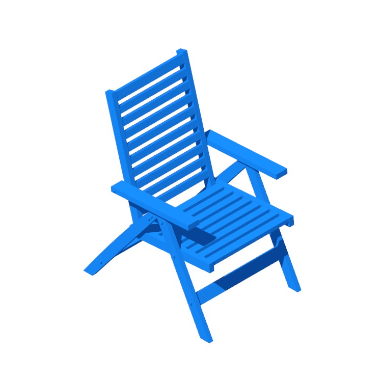 View of the IKEA Äpplarö Reclining Chair in 3D available for download