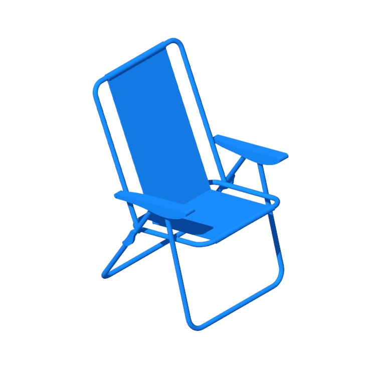 3D model of the IKEA Håmö Reclining Chair viewed in perspective