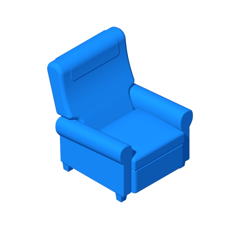 View of the IKEA Muren Recliner in 3D available for download