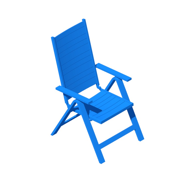Perspective view of a 3D model of the IKEA Själland Reclining Chair