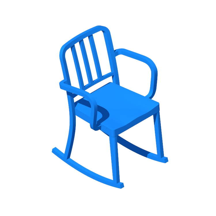 View of the Heritage Rocking Armchair in 3D available for download