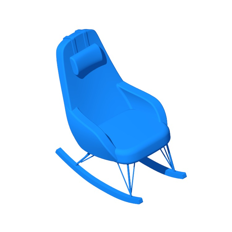 3D model of the Mellinger Rocking Chair viewed in perspective