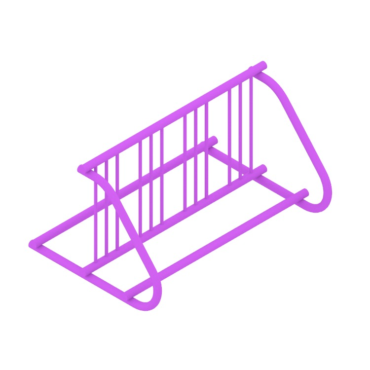 View of the Grid Bike Rack - Double Sided in 3D available for download