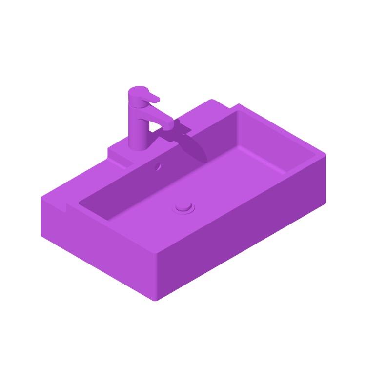 3D model of the IKEA Lillången Bathroom Sink viewed in perspective