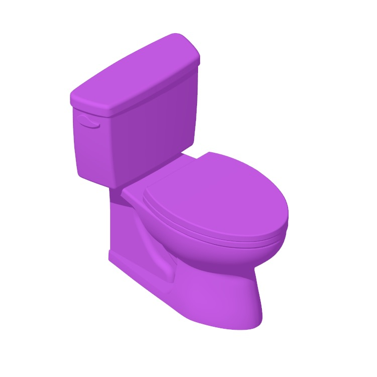 3D model of the TOTO Drake Two-Piece Toilet viewed in perspective
