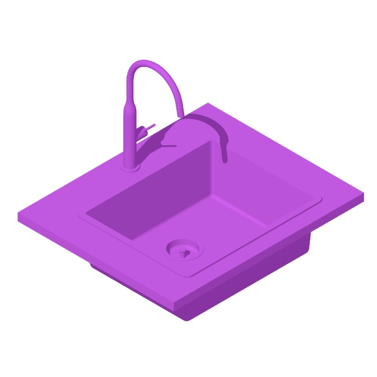View of the IKEA Norrsjön Kitchen Sink Small Medium Large in 3D available for download