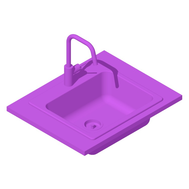 View of the IKEA Långudden Kitchen Sink in 3D available for download