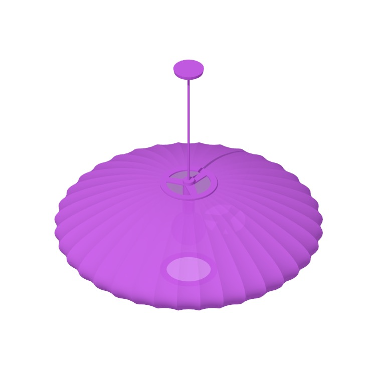View of the Nelson Saucer Pendant Lamps in 3D available for download