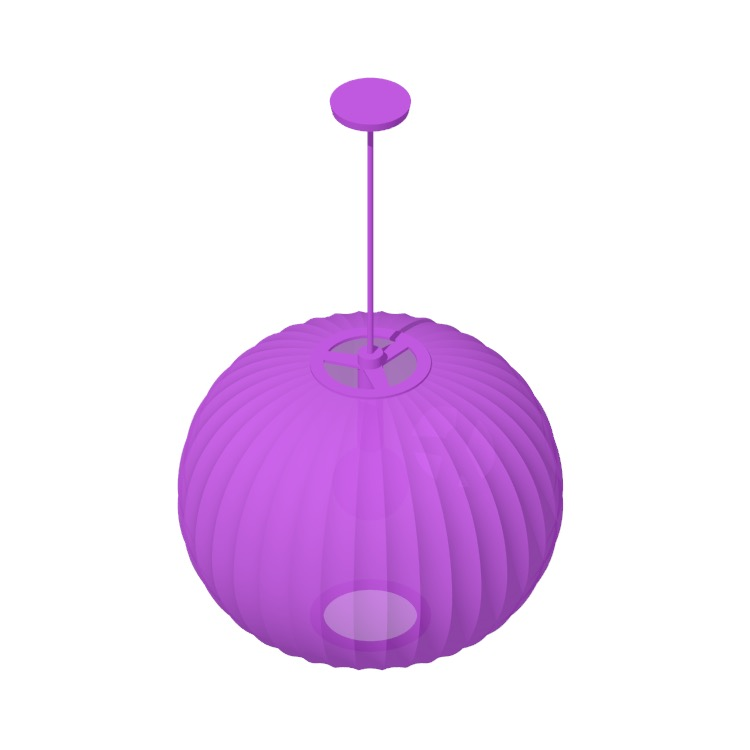 3D model of the Nelson Ball Pendant Lamps viewed in perspective