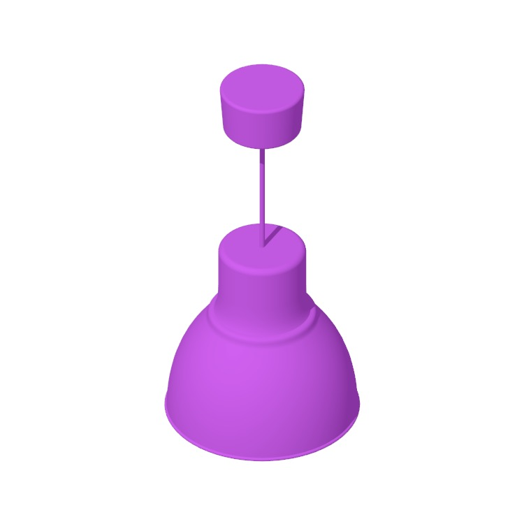 Perspective view of a 3D model of the IKEA Hektar Pendant Lamp