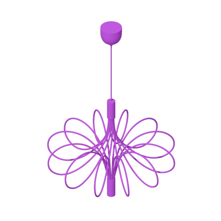 View of the IKEA Älvsbyn LED Chandelier in 3D available for download