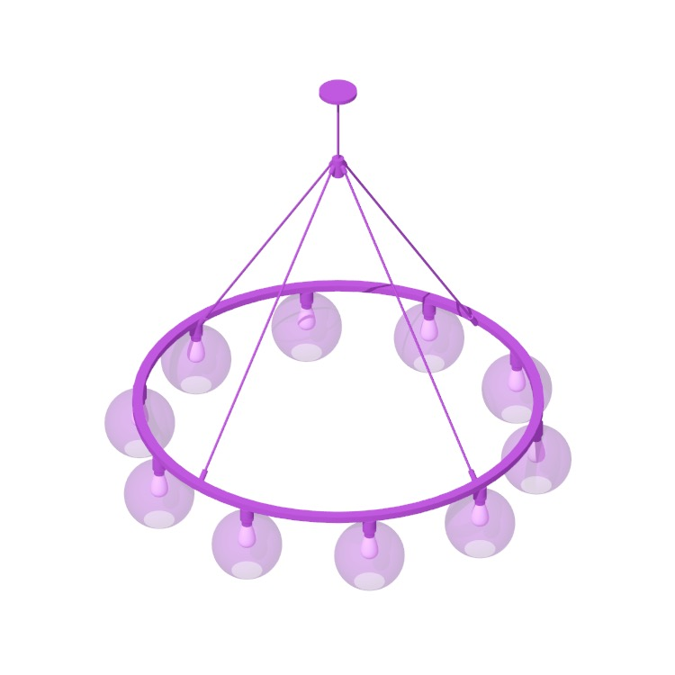 View of the Sola 60 Chandelier in 3D available for download