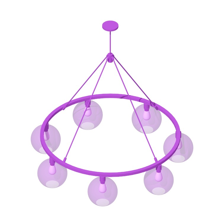 3D model of the Sola 48 Chandelier viewed in perspective