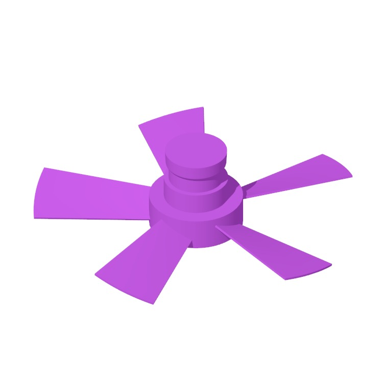 View of the Vox 5-Blade Smart Ceiling Fan in 3D available for download