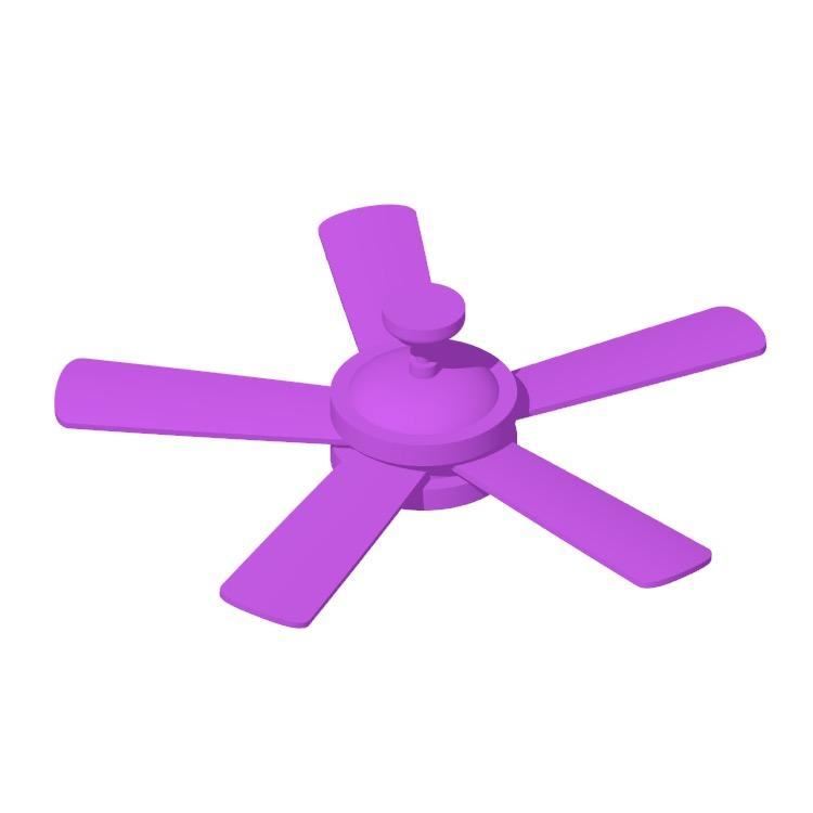 3D model of the Creslow 5-Blade Ceiling Fan viewed in perspective