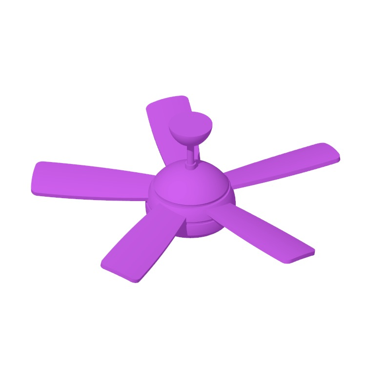 3D model of the Beltran 5-Blade Ceiling Fan viewed in perspective
