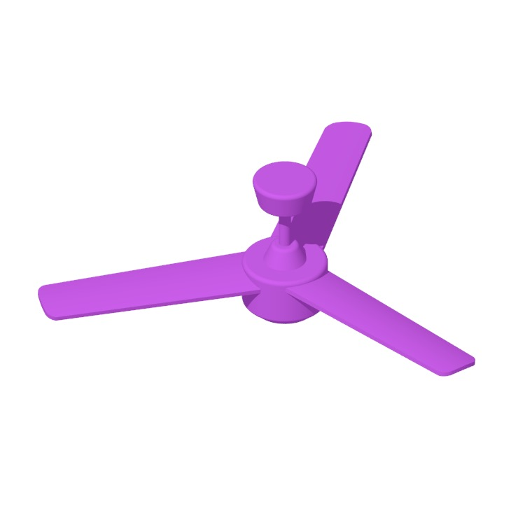 View of the IKEA Molnighet 3-Blade Ceiling Fan in 3D available for download