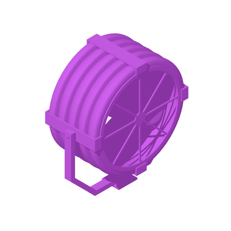 View of the Big Ass Fans Yellow Jacket in 3D available for download