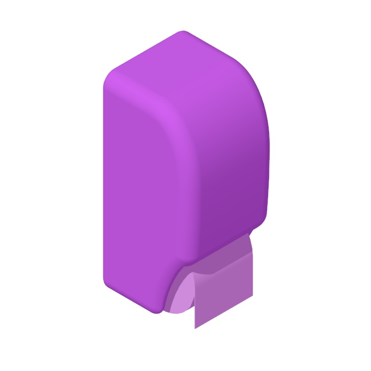 View of the Palmer Fixture 2-Roll Standard Tissue Dispenser in 3D available for download