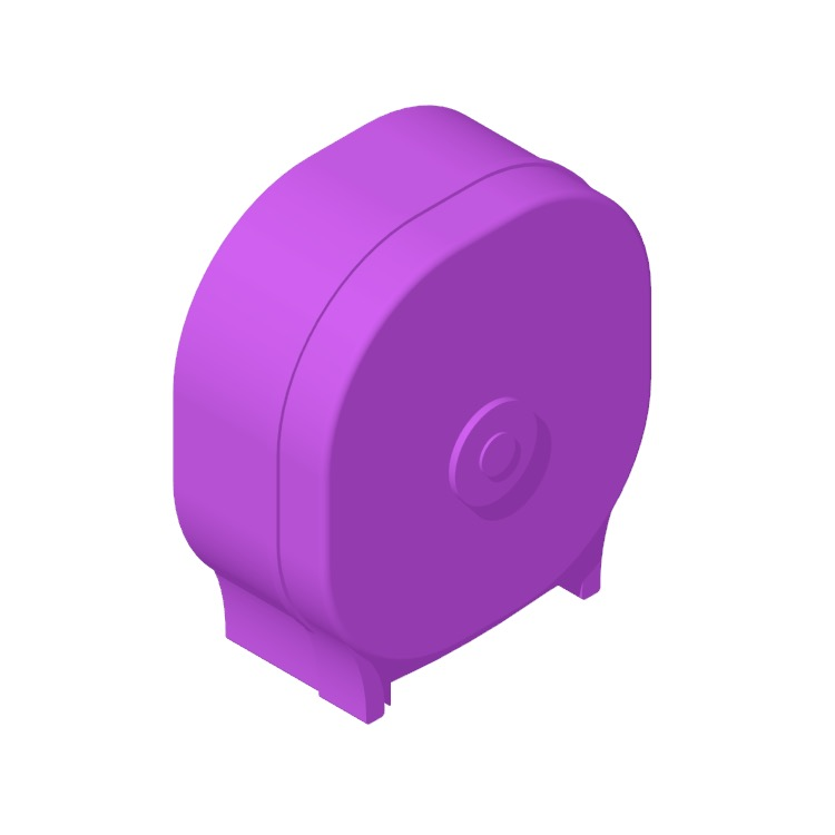 Perspective view of a 3D model of the Palmer Fixture 4-Roll Carousel Tissue Dispenser