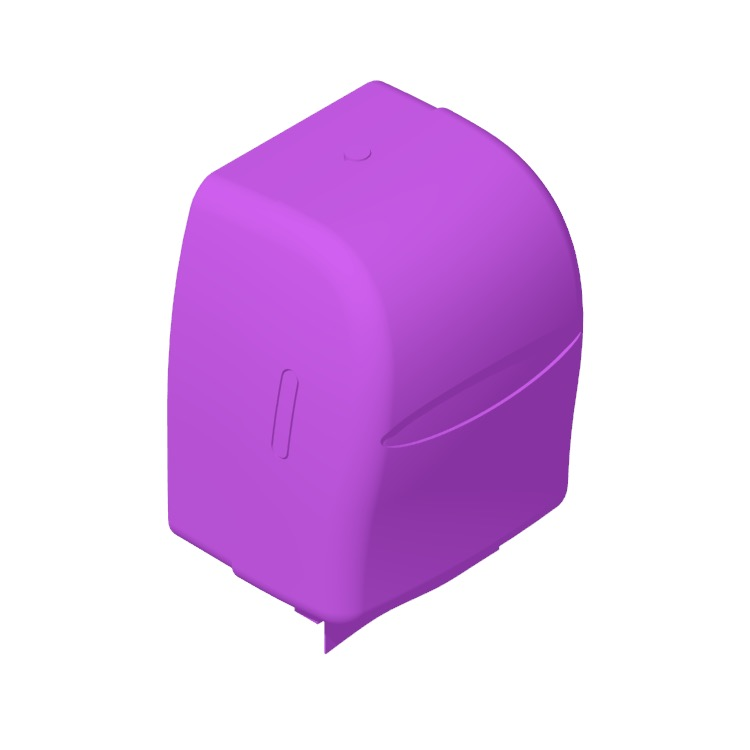 3D model of the Kimberly-Clark Sanitouch Hard Roll Paper Towel Dispenser viewed in perspective