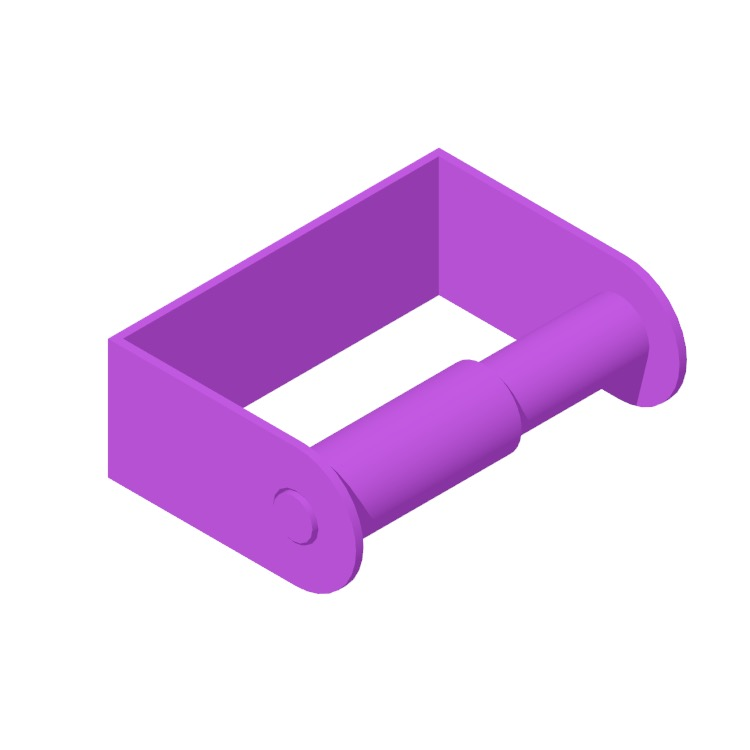 View of the IKEA Enudden Toilet Roll Holder in 3D available for download