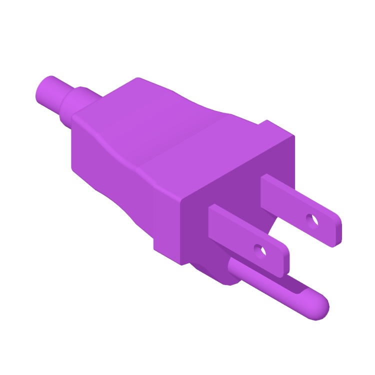 View of the Type B Plug & Socket in 3D available for download