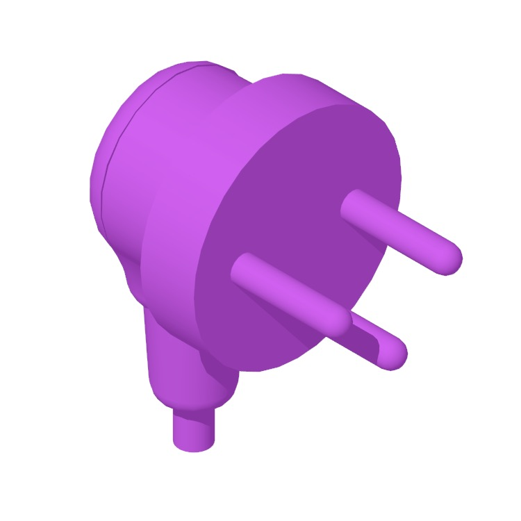 View of the Type H Plug & Socket in 3D available for download