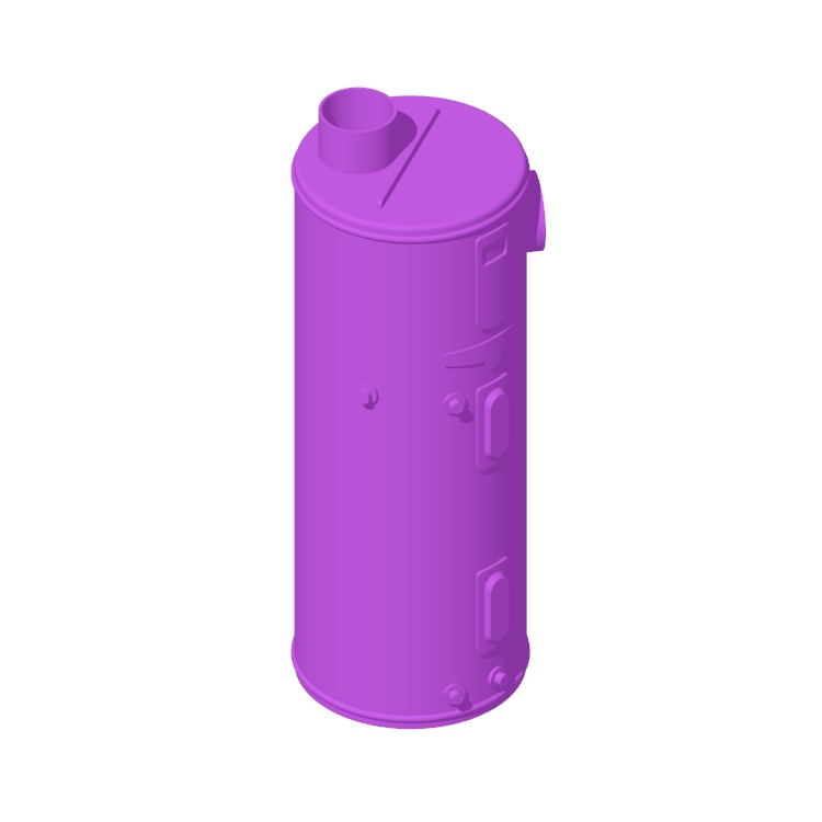 3D model of the Rheem Professional Prestige Hybrid Water Heater (65 Gallon) viewed in perspective