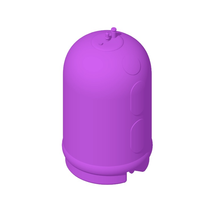 View of the Rheem Marathon Electric Water Heater (50 Gallon) in 3D available for download