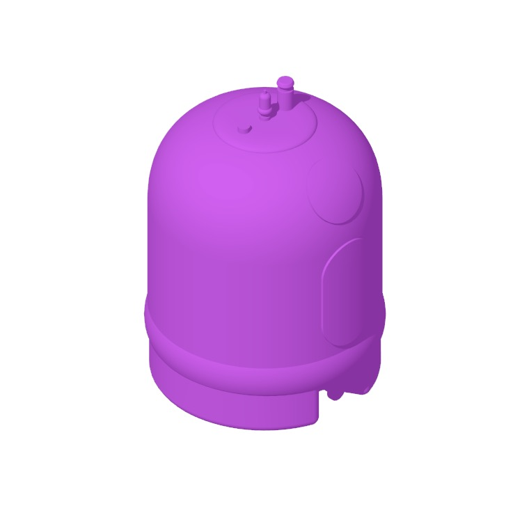 3D model of the Rheem Marathon Point-of-Use Electric Water Heater (20 Gallon) viewed in perspective
