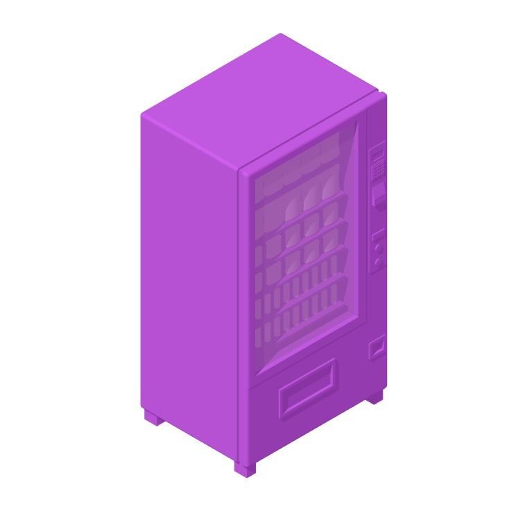 3D model of the Large Snack Vending Machine viewed in perspective