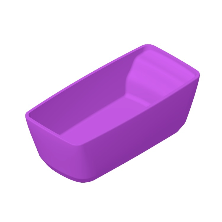 Perspective view of a 3D model of the TOTO Flotation Freestanding Square Tub