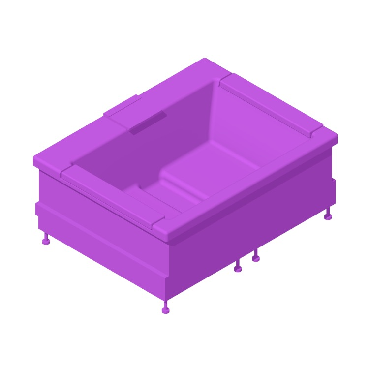 3D model of the TOTO Neorest Air Bath SE viewed in perspective