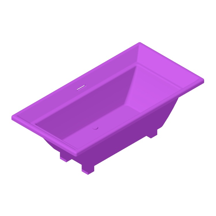 View of the TOTO Aimes Soaker Bathtub in 3D available for download
