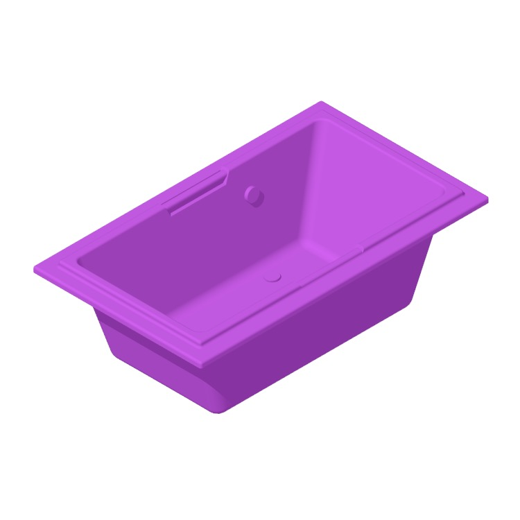 Perspective view of a 3D model of the TOTO Lloyd Soaker Bathtub