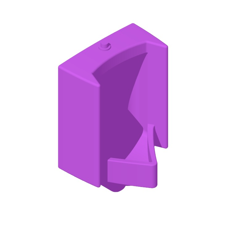 3D model of the TOTO Commercial High Efficiency Rectangle Urinal viewed in perspective