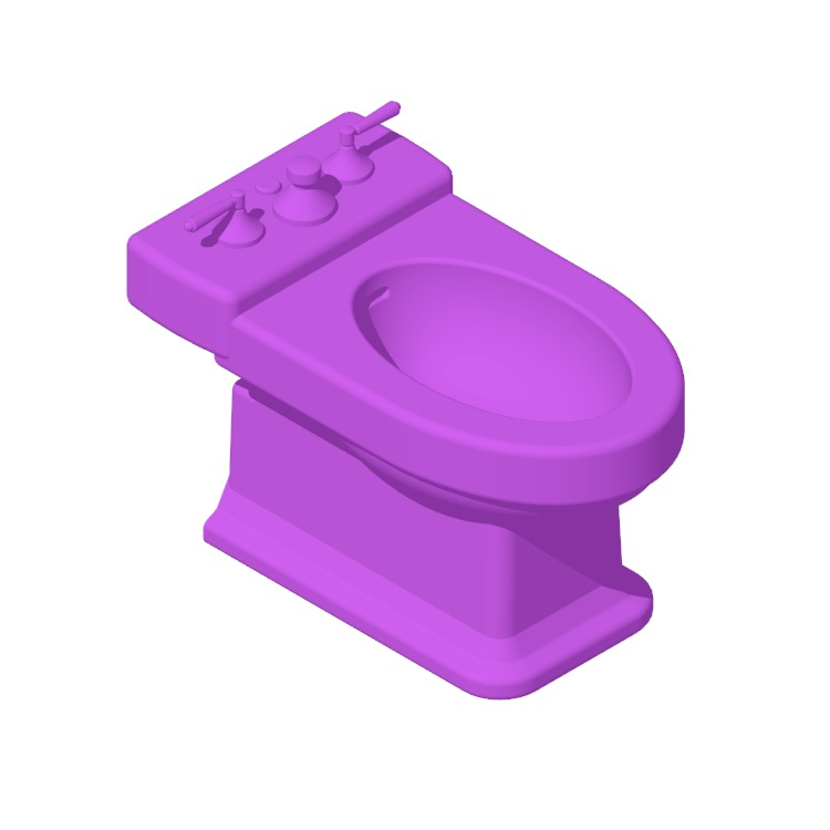 View of the TOTO Lloyd Bidet in 3D available for download