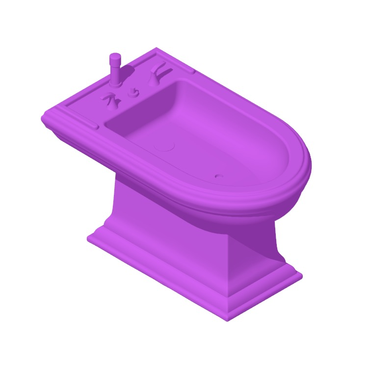 3D model of the Kohler Memoirs Bidet viewed in perspective