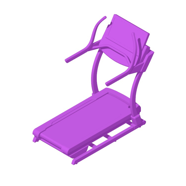 3D model of the NordicTrack Commercial X32i Incline Treadmill viewed in perspective