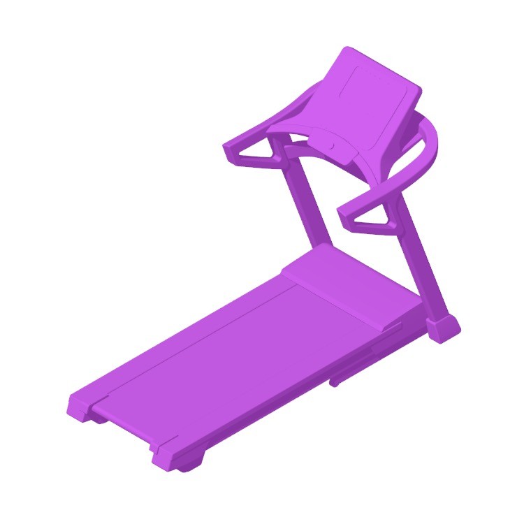 View of the NordicTrack T 8.5 S Treadmill in 3D available for download